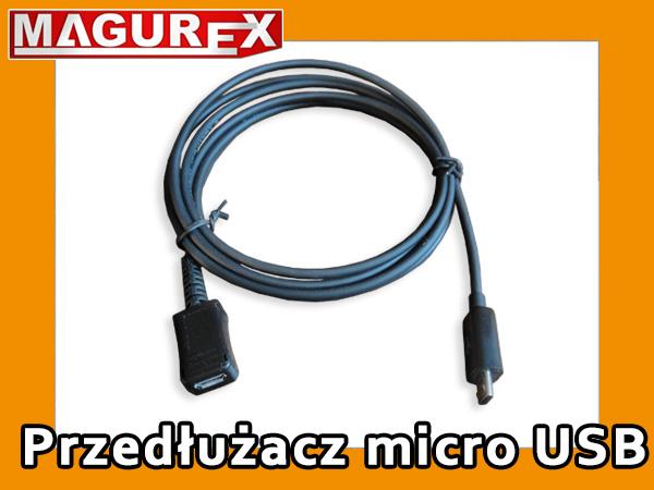 Przedłużacz Micro USB 1m do tablet telefon - mikro