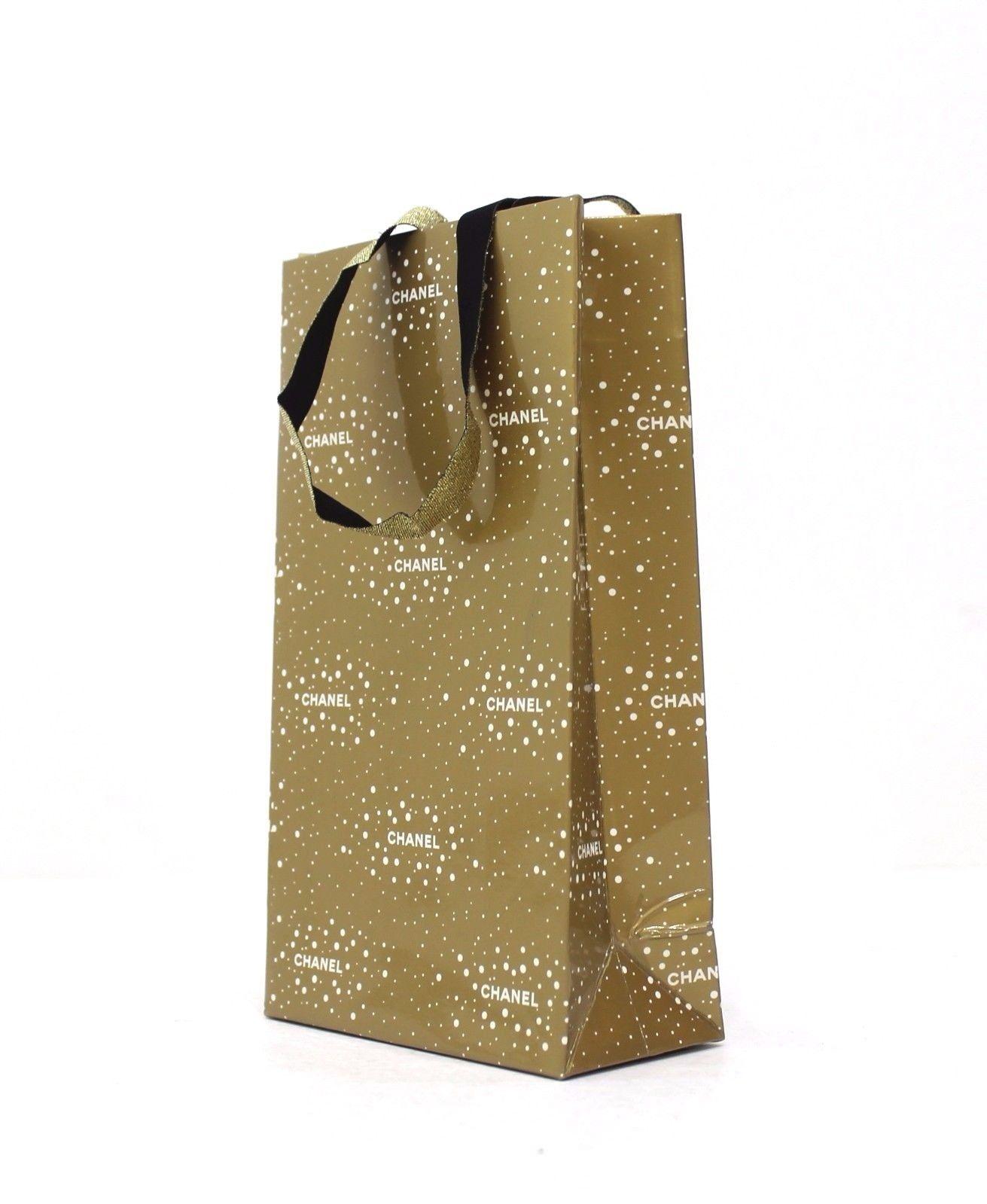 2203514410831 Chanel mała oryginalna torebka prezentowa, złota - 7633376483 ...