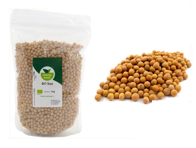 Inne rodzaje BIO SOJA EKOLOGICZNA 1kg BEZ GLUTENU BEZ GMO - 6688303777 CK01