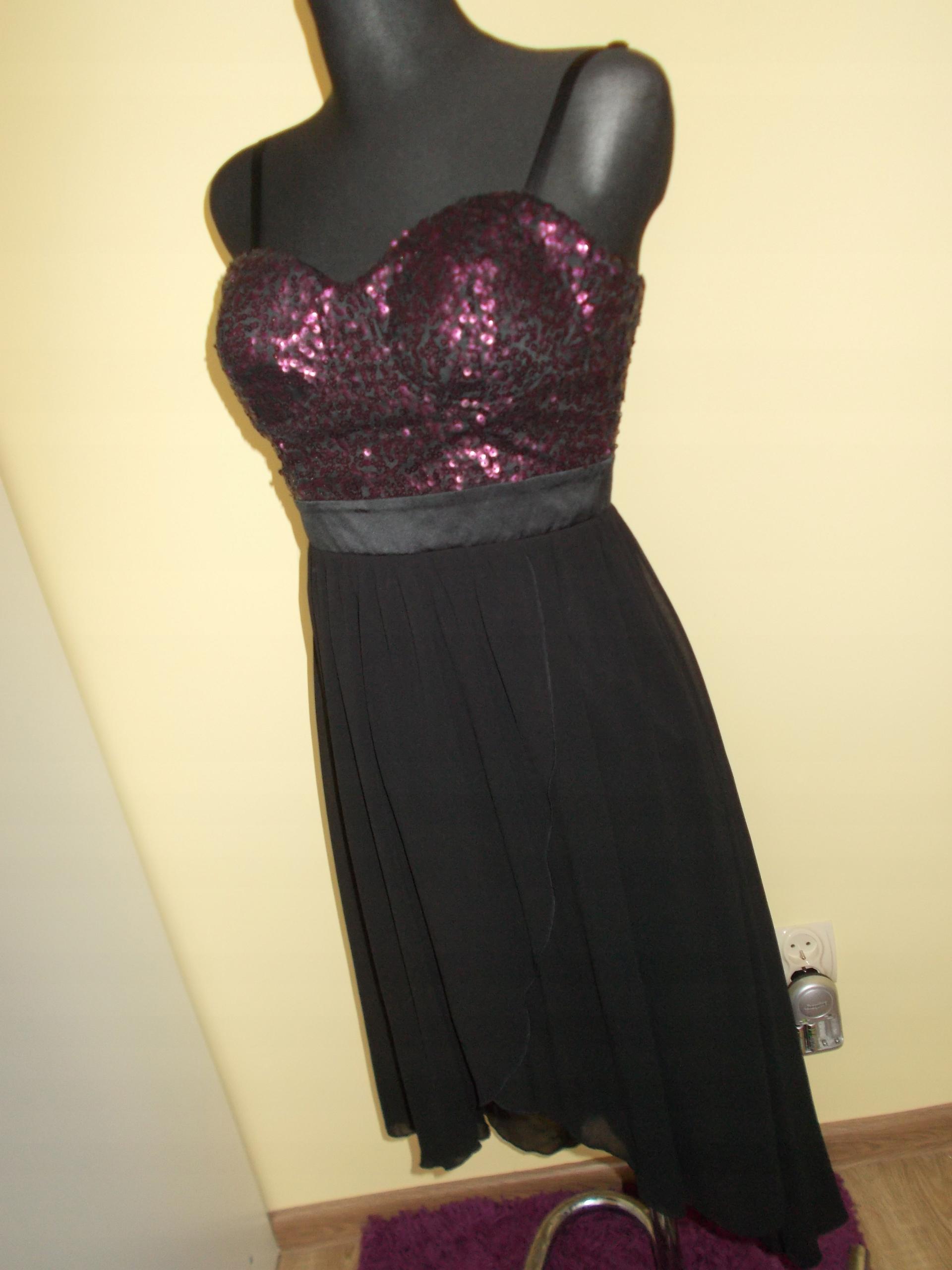 95b13ba773 Lipsy asymetryczna sukienka cekiny glamour 38 - 7652851705 ...