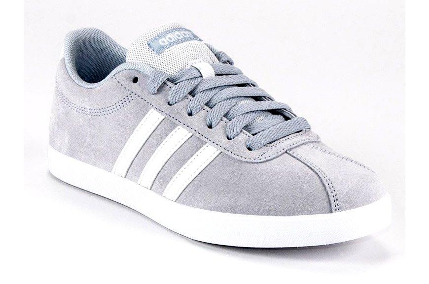 Szare Skórzane Buty Damskie Sportowe Adidas r.37