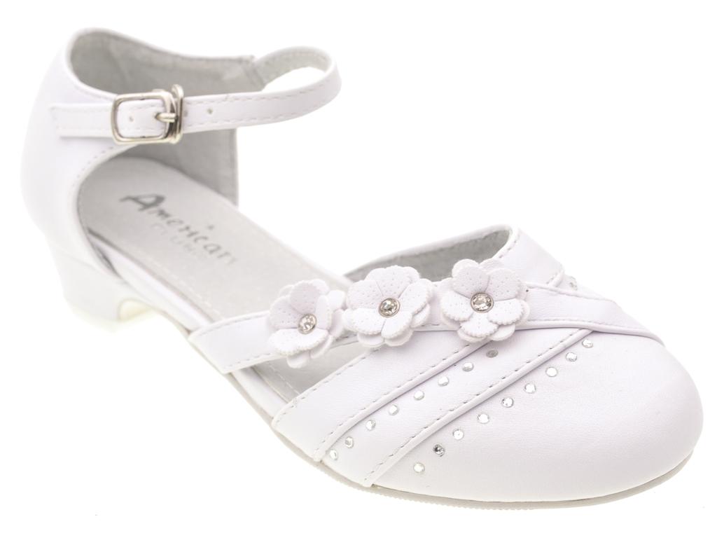 f0e79d0fec MODAVIP Komunijne wizytowe białe buty kwiatki 36 - 7314116637 ...