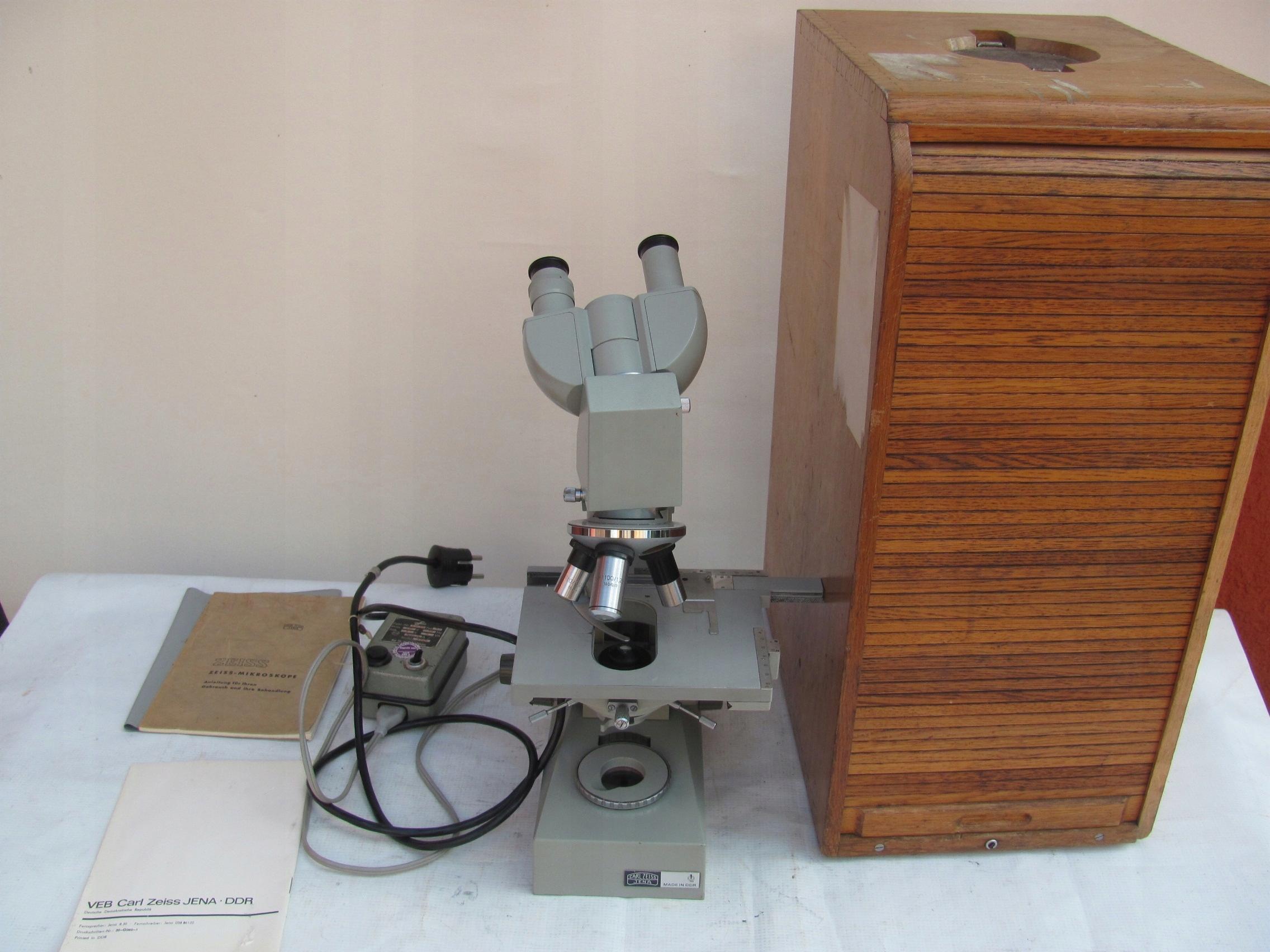 Mikroskop carl zeiss jena oficjalne archiwum allegro