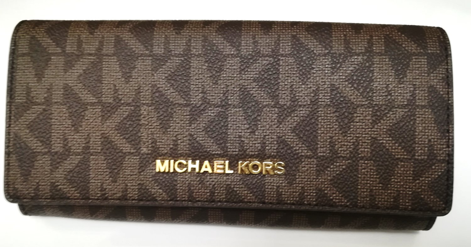 MICHAEL KORS Portfel brn cherry jet set travel - 7261555147 ... 5c76dfee97