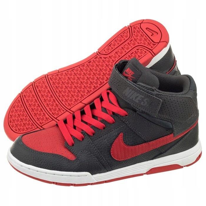Buty Nike Mogan Mid 2 J B 645025 Szare Czerwone