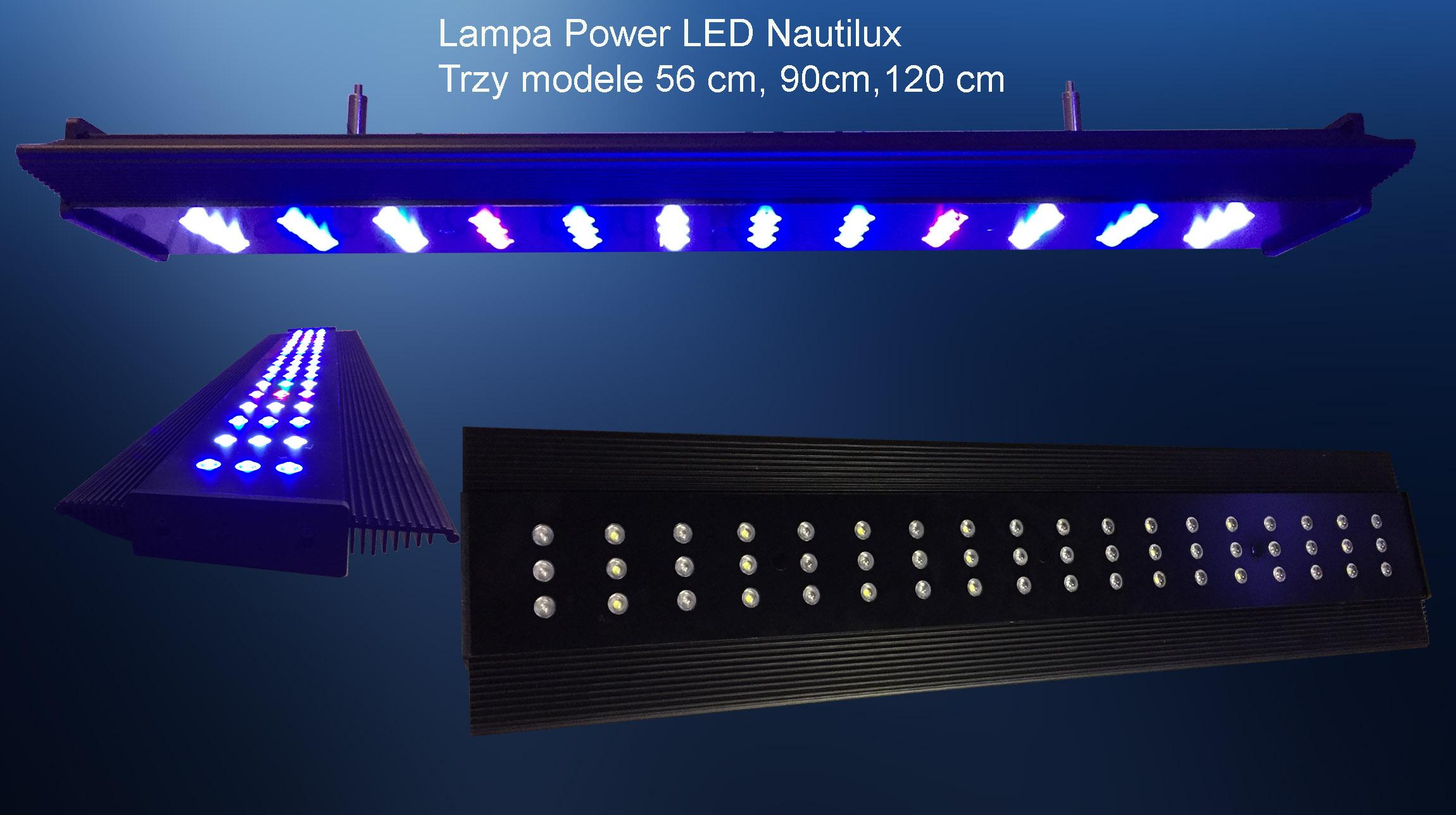 Lampa Power Led Nautilux 108 Wat Akwarium Morskie