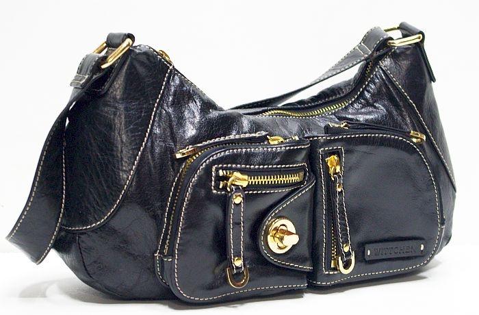 5fc8146d5ed4c WITTCHEN Elegance skórzana czarna torebka - 7544340535 - oficjalne ...