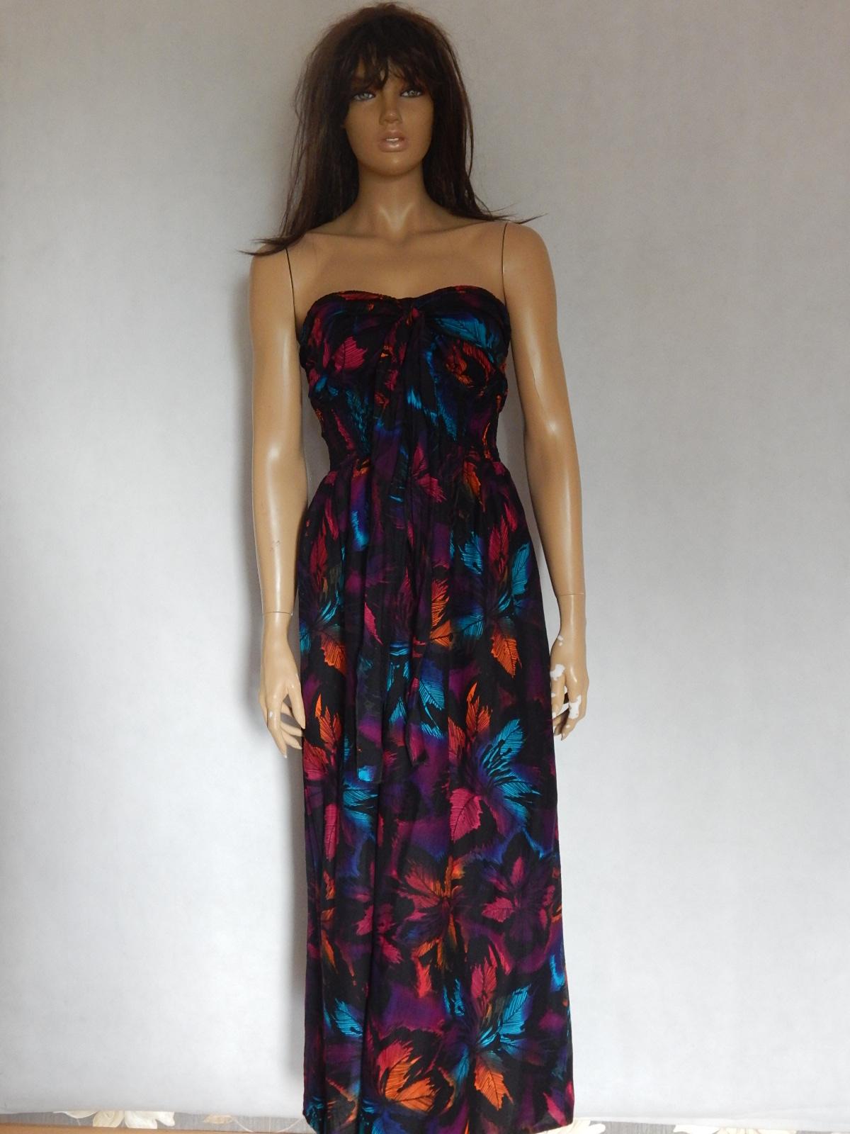 0d1a73af0b GEORGE długa letnia plażowa sukienka kolory 44 - 7422796573 ...