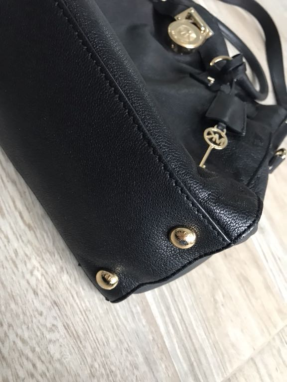 9bc7cea6155e7 Michael Kors Hamilton Bag czarna paragon! - 7176107598 - oficjalne ...