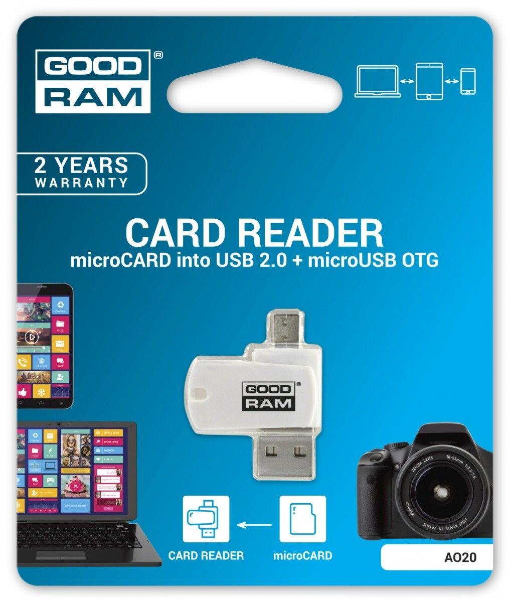BYD - GOODRAM Czytnik kart microSD USB