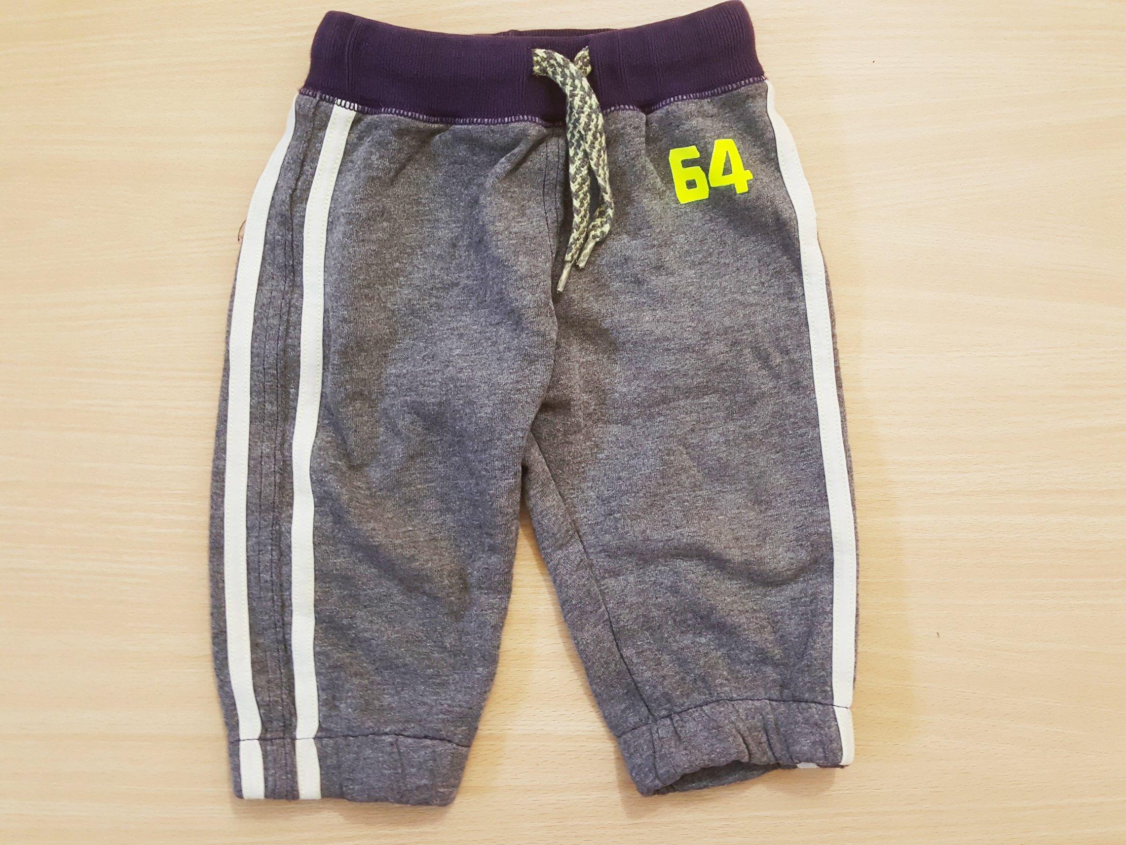 bawełniane spodnie dresowe ściągacze 6 9 m 68 74