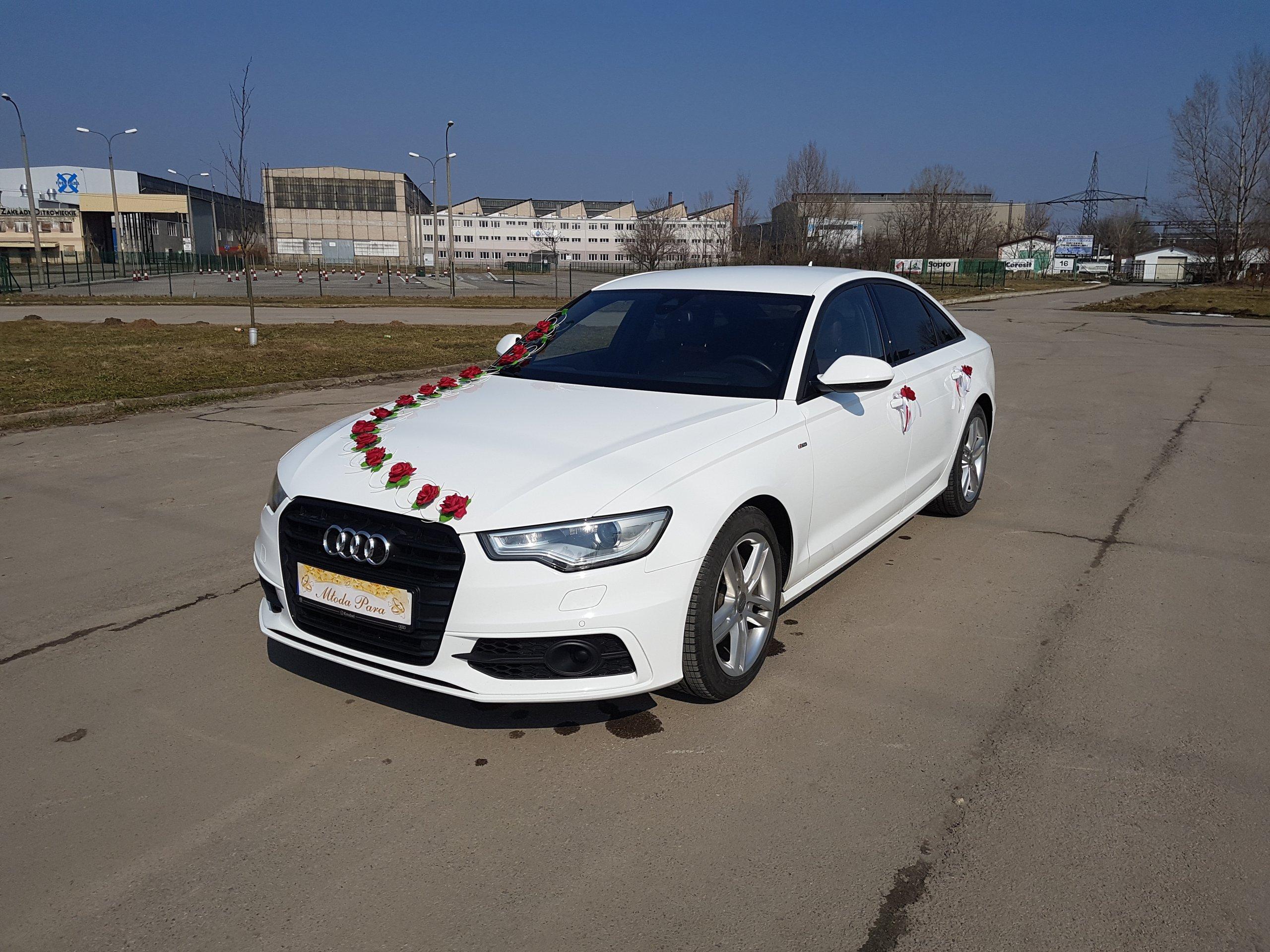 Najnowsze AUTO SAMOCHÓD ŚLUBNY AUDI A6 do ŚLUBU - WYNAJEM - 7255022185 VG76