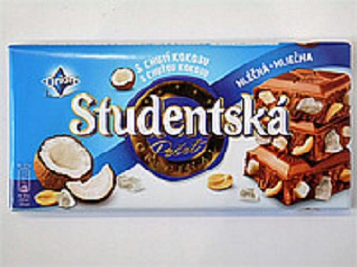 Studentska Czekolada Mleczna z Kokosem 180g