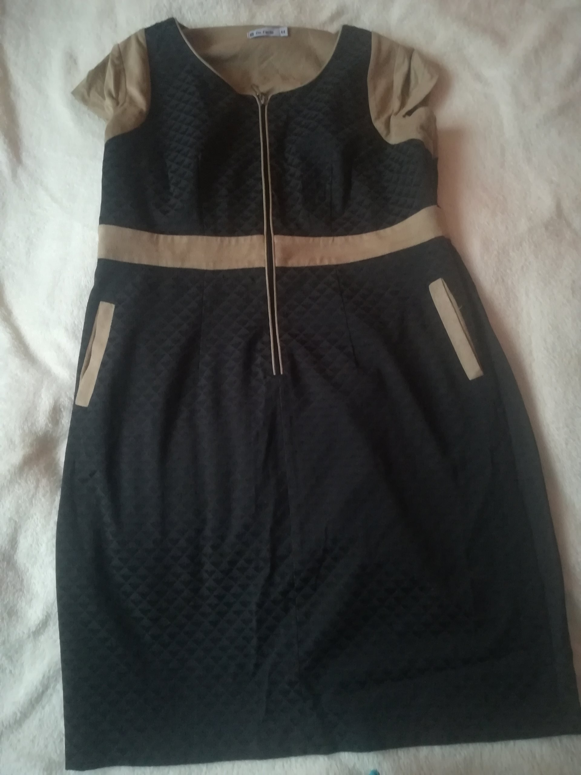 02bab0fc4a Sukienka de facto r. 44 - 7078144214 - oficjalne archiwum allegro