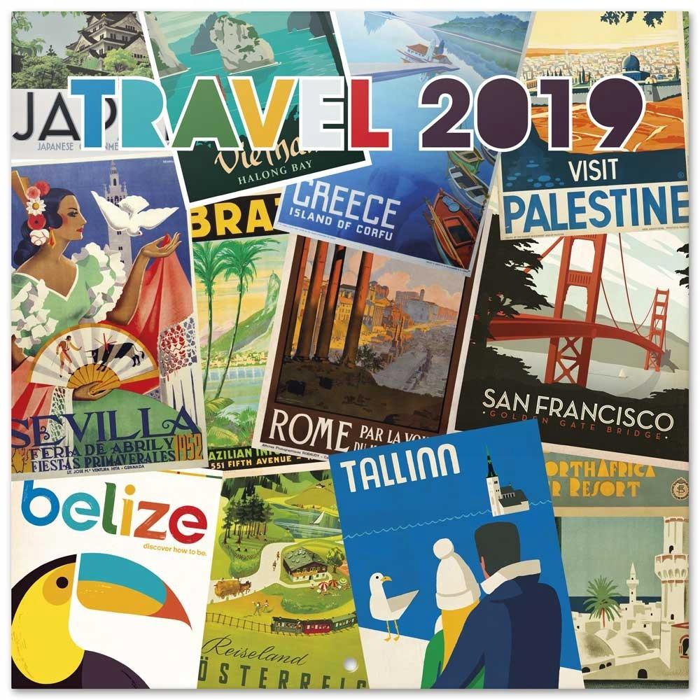 Kalendarz 2019 Podróż Stare Plakaty 7674745041