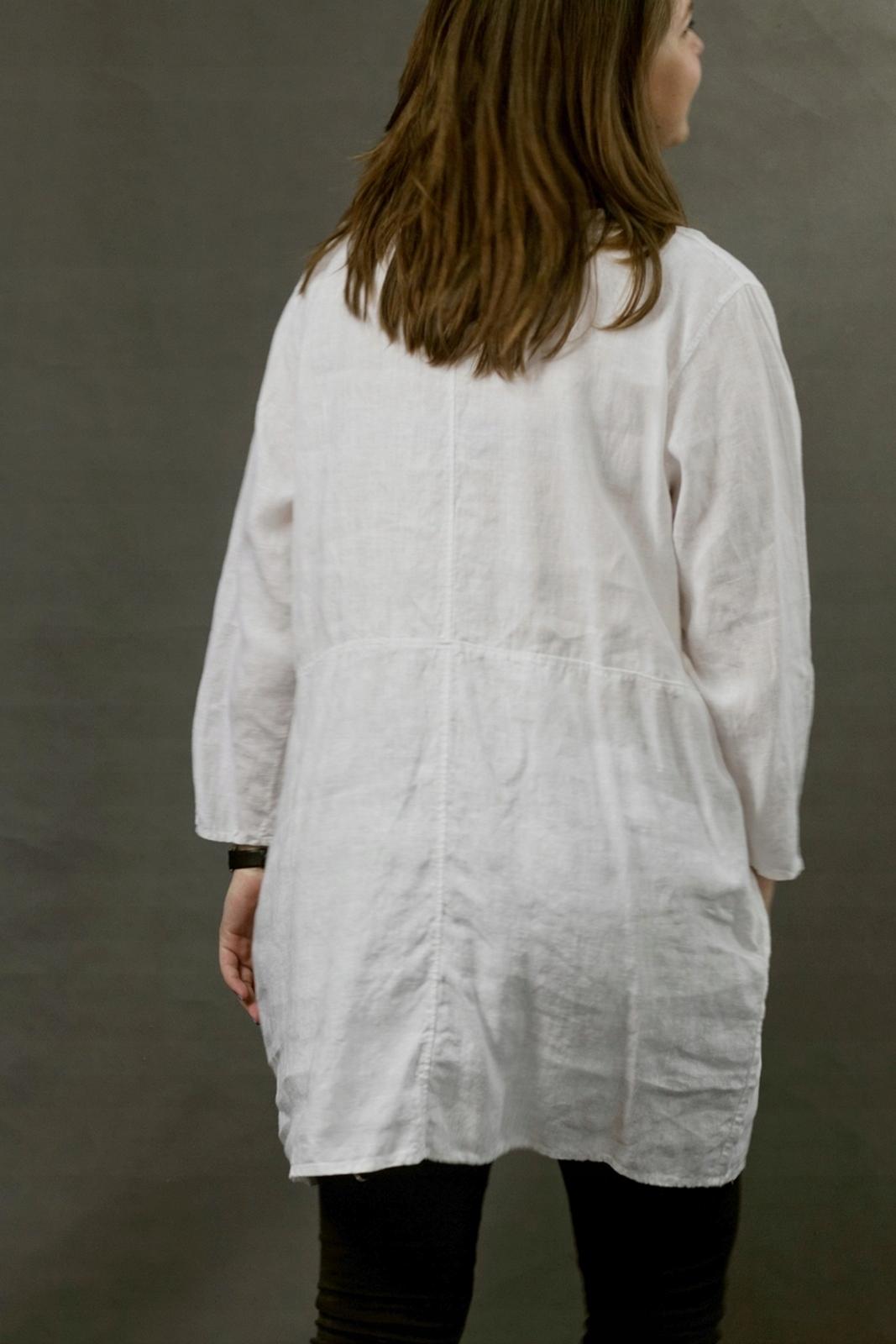 5296c89fa6 Lniana tunika damska w kolorze białym - 7516146031 - oficjalne ...