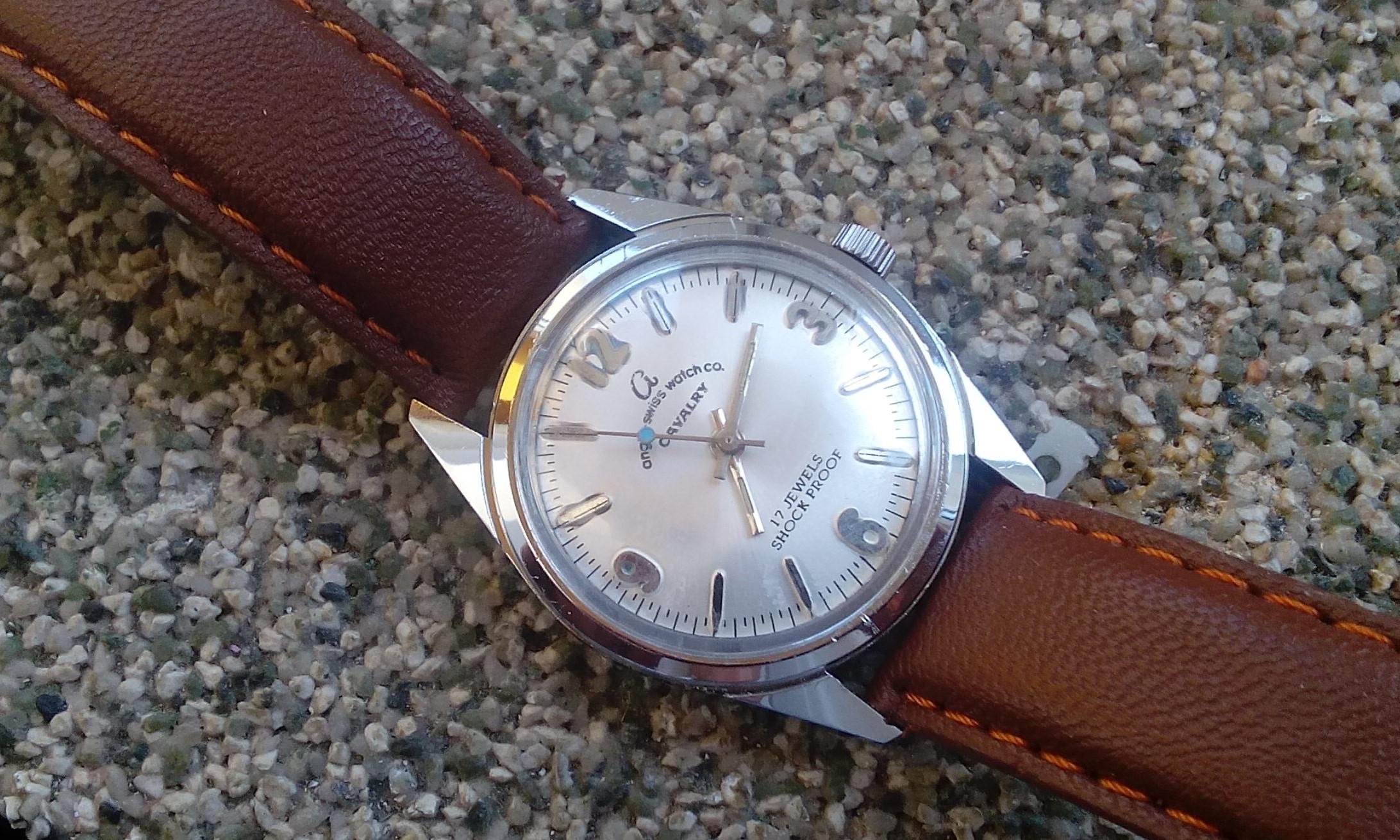 bdea61b399a Mechaniczny zegarek anglo swiss watch co. cavalry - 7194269092 - oficjalne  archiwum allegro