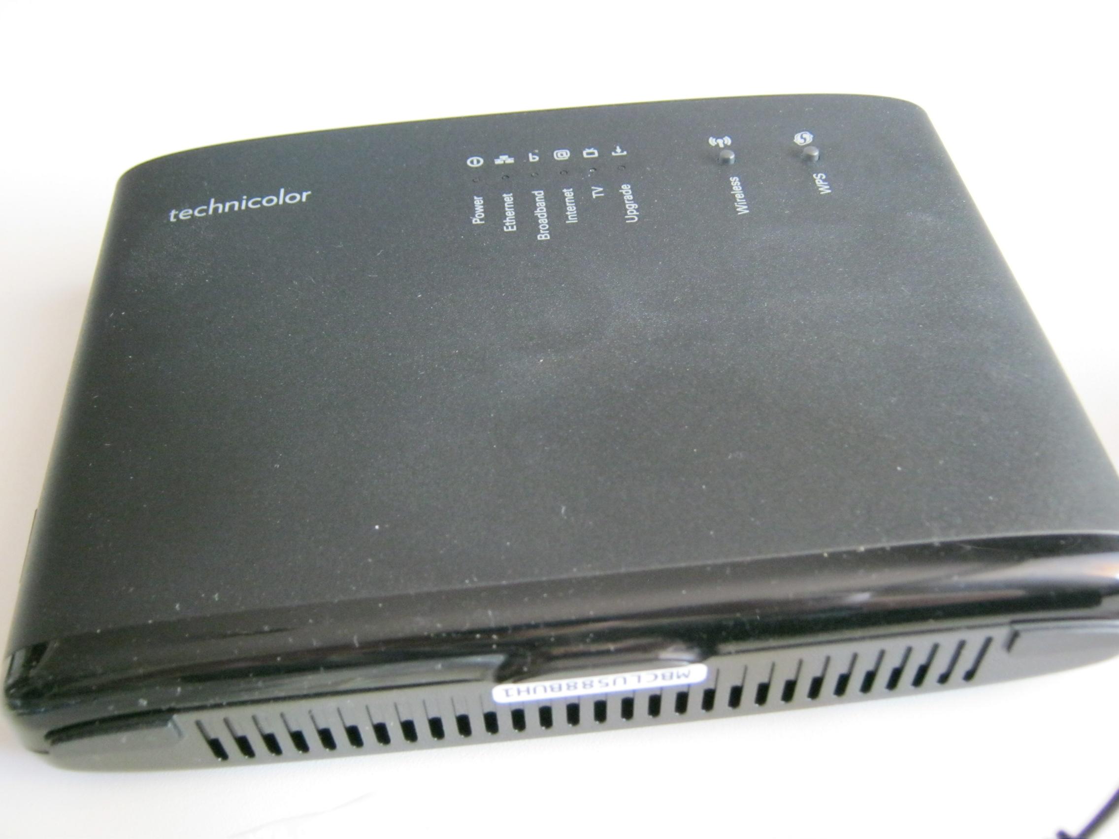 modem router adsl vdsl2 wifi technicolor tg588v v2