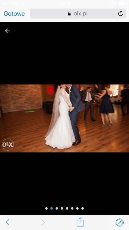 Suknia ślubna Lxl Svarovski Rybka Koronkowa 7232085737