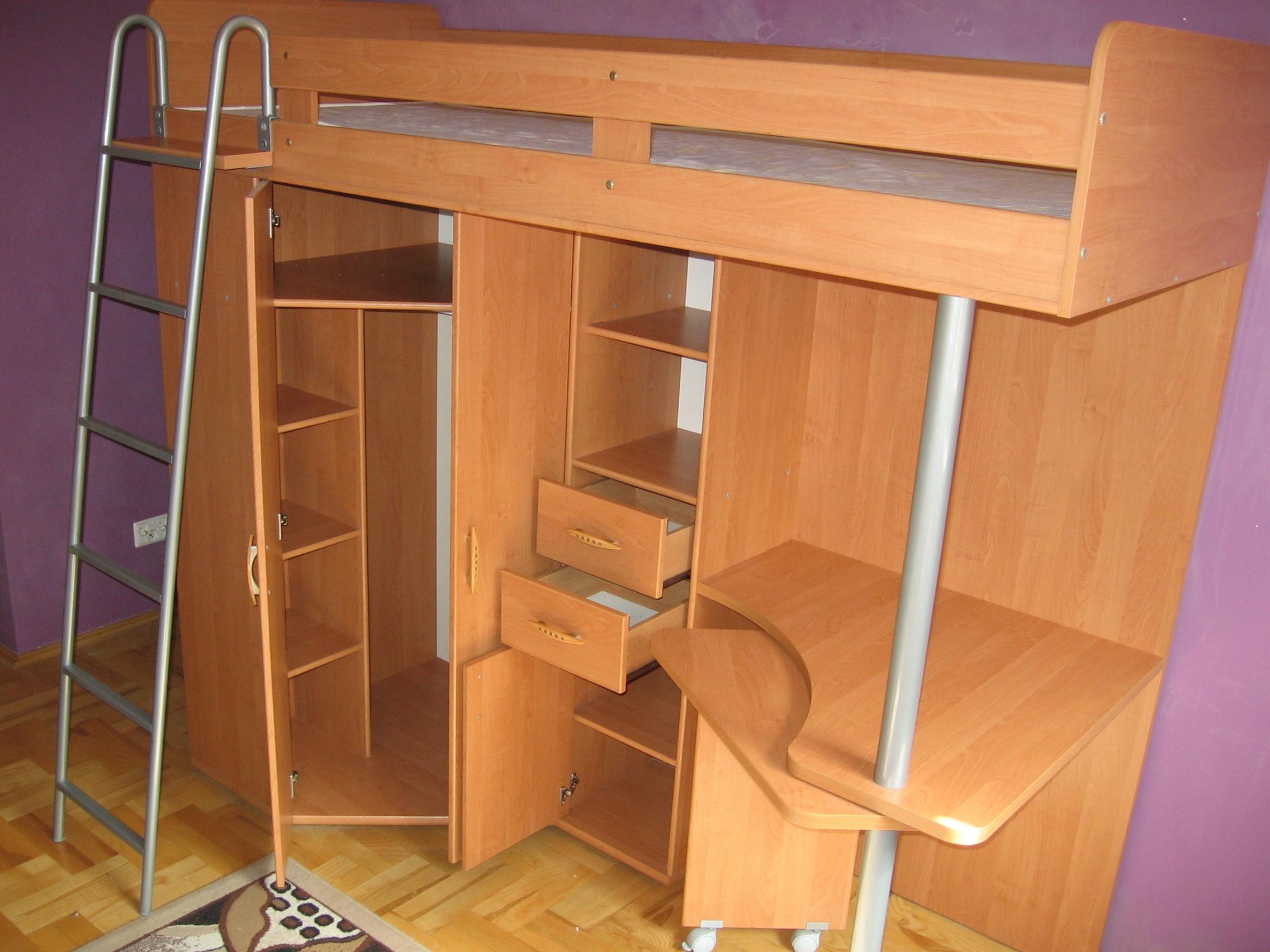 łóżko Piętrowe Z Szafą I Biurkiem 7459090628 Oficjalne Archiwum
