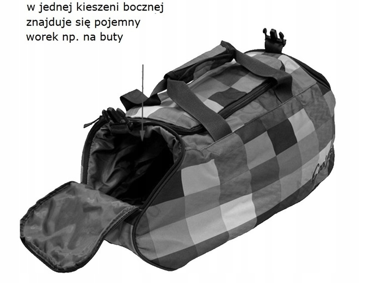 2059932768c90 CoolPack torba podróżna różowa krata pojemna lekka - 7665096893 ...