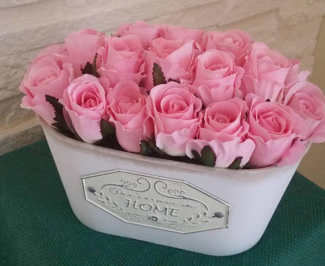 Bukiet Róże W Pudełku Dekoracja Na Prezent Tanio 7183470899