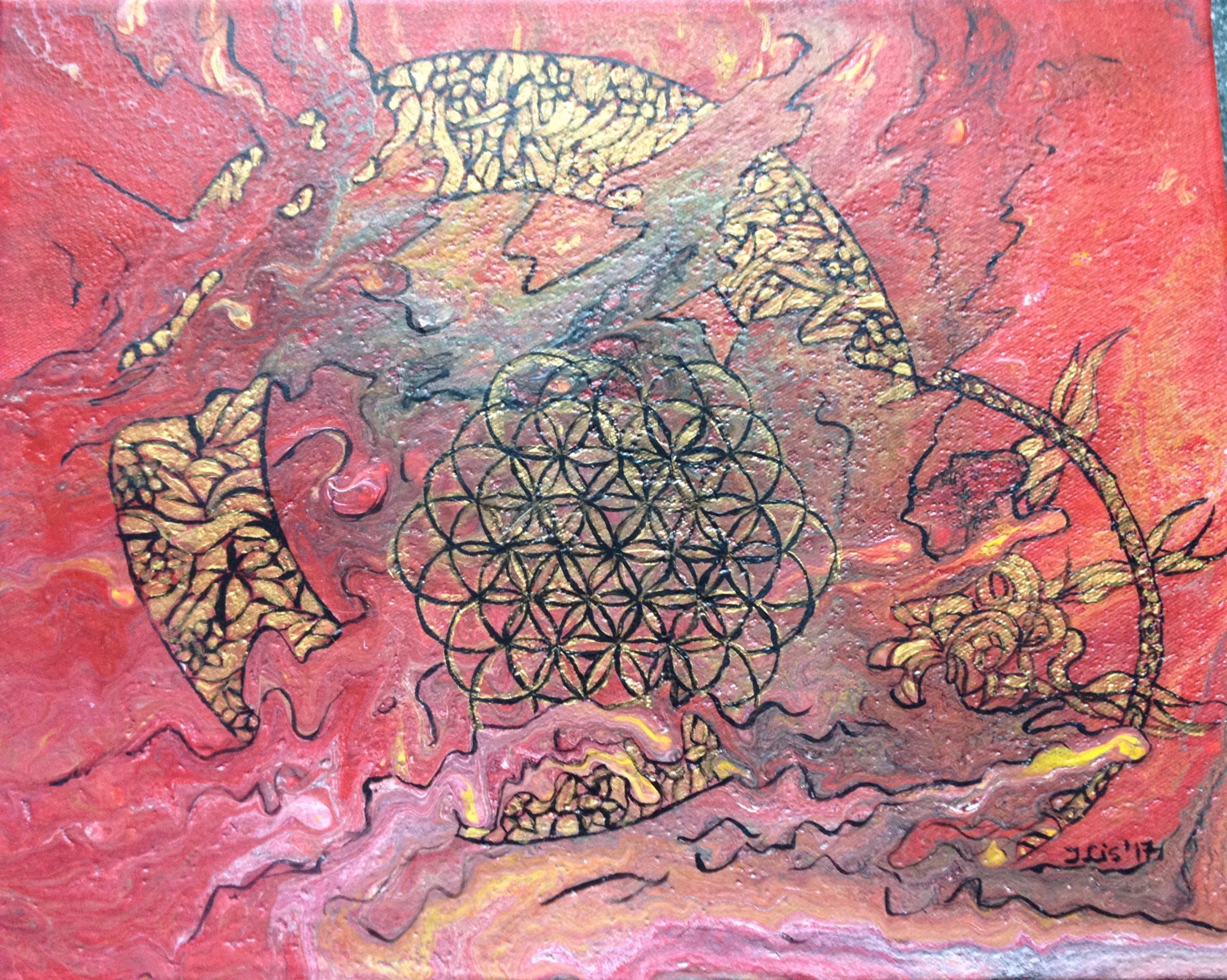 Obraz Akrylowy Kwiat życia 7207665272 Oficjalne Archiwum Allegro