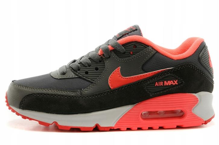 Buty Nike Damskie Nike Air Max 90 PomarańczowyCzarny