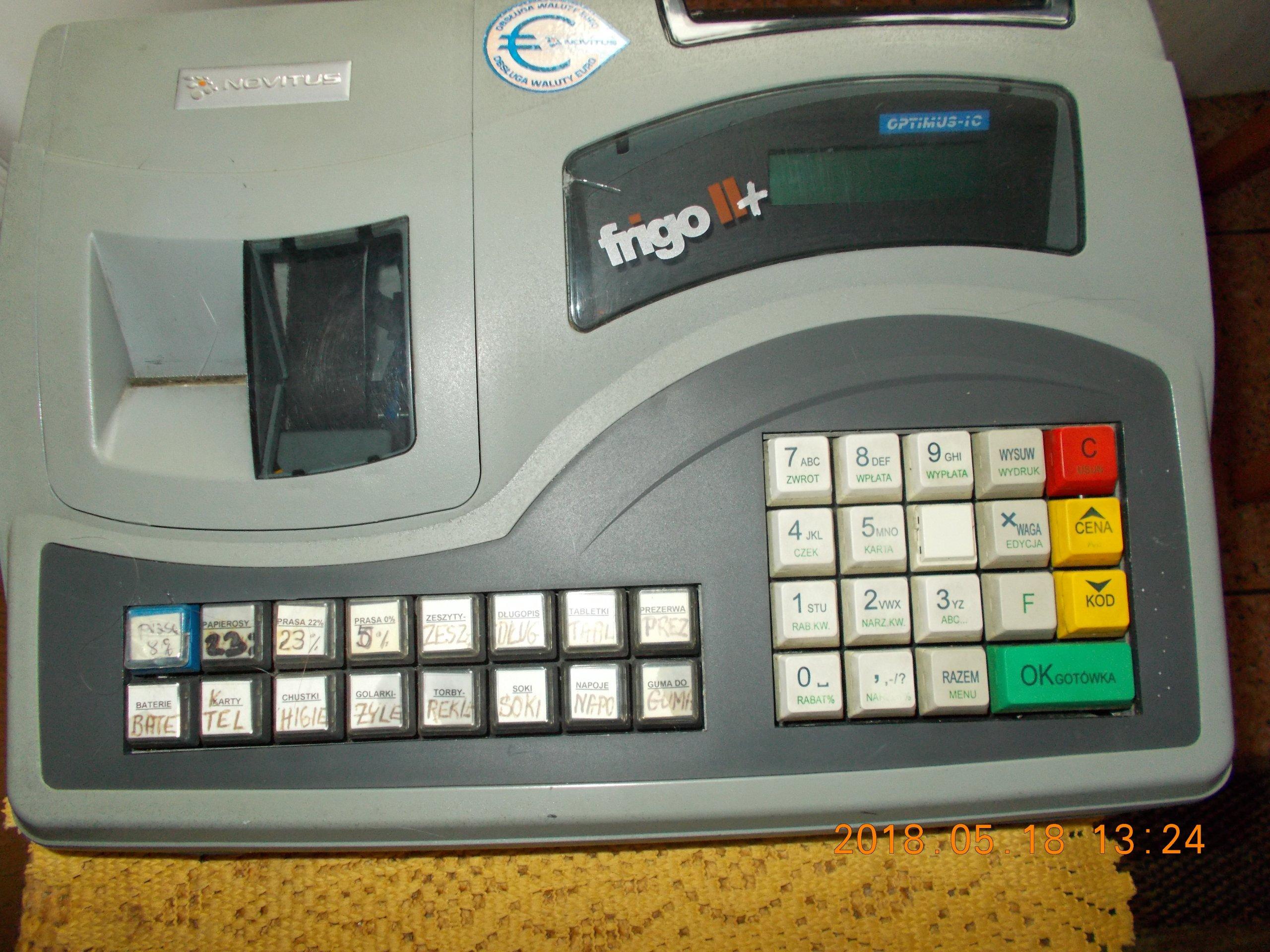 Bardzo dobra Kasa fiskalna FRIGO II+ Używana rok.prod.2007 - 7355071876 DD65