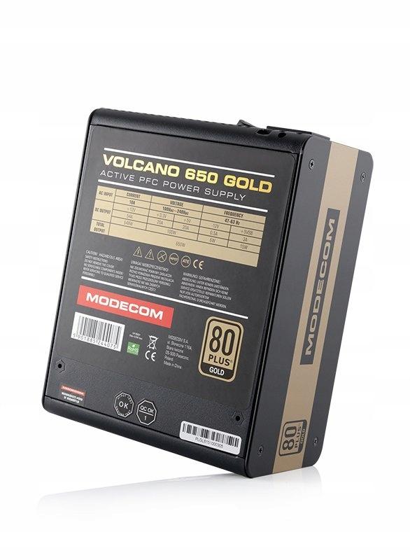 Zasilacz Modecom Volcano 650W 80+ Gold
