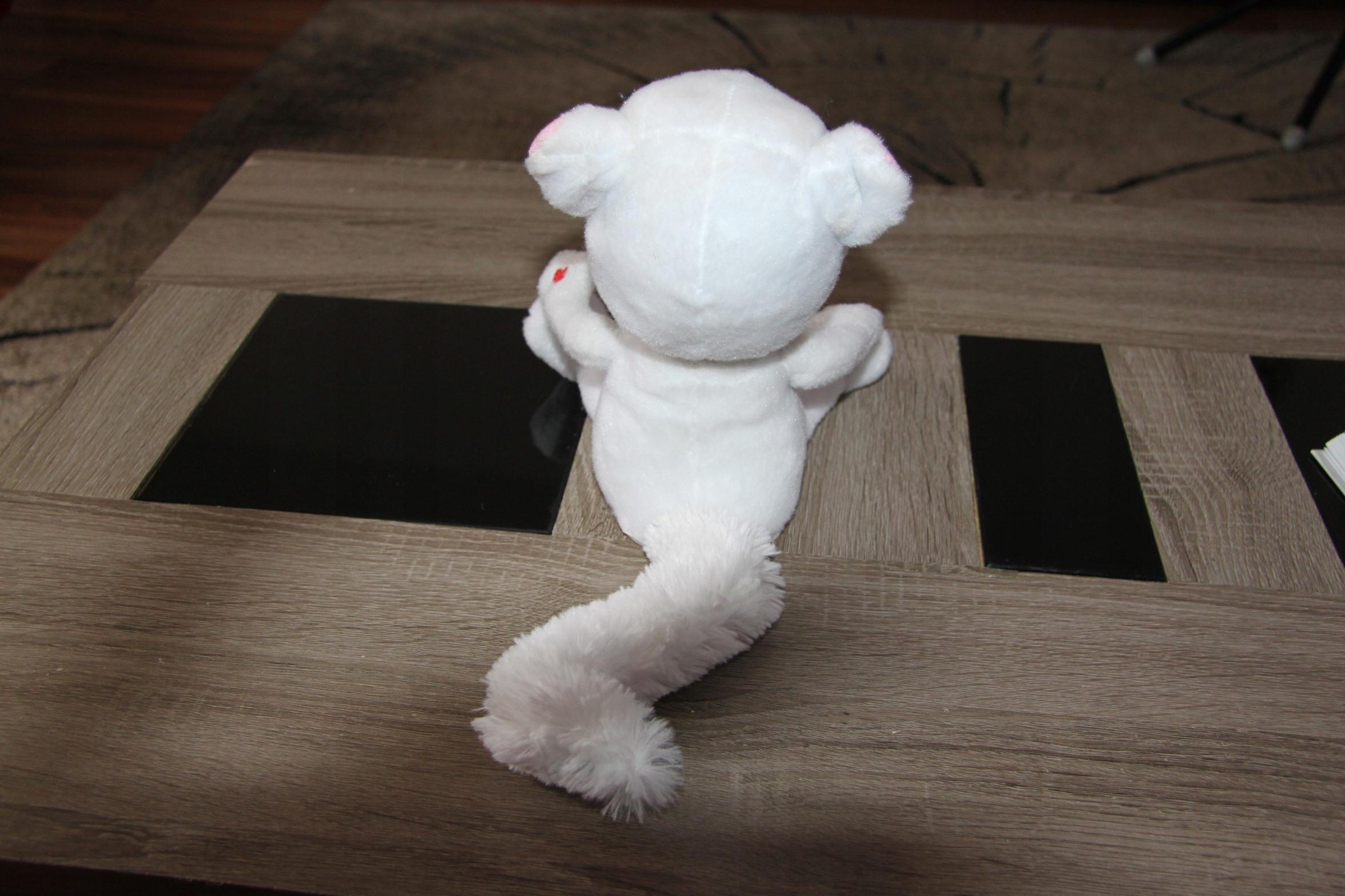 Interaktywny Bialy Kot Przyjaciel Tom Maskotka 7639660462