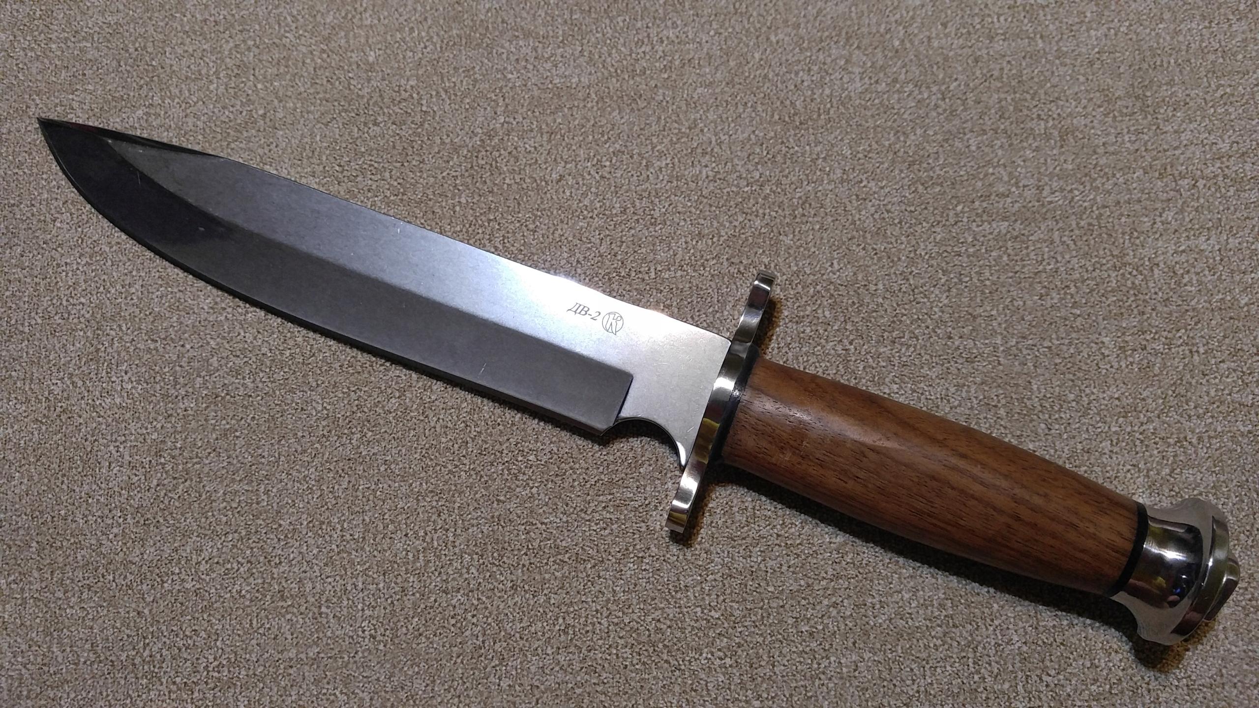 Rosyjski nóż bojowy Kizlyar DV 2, AUS 8