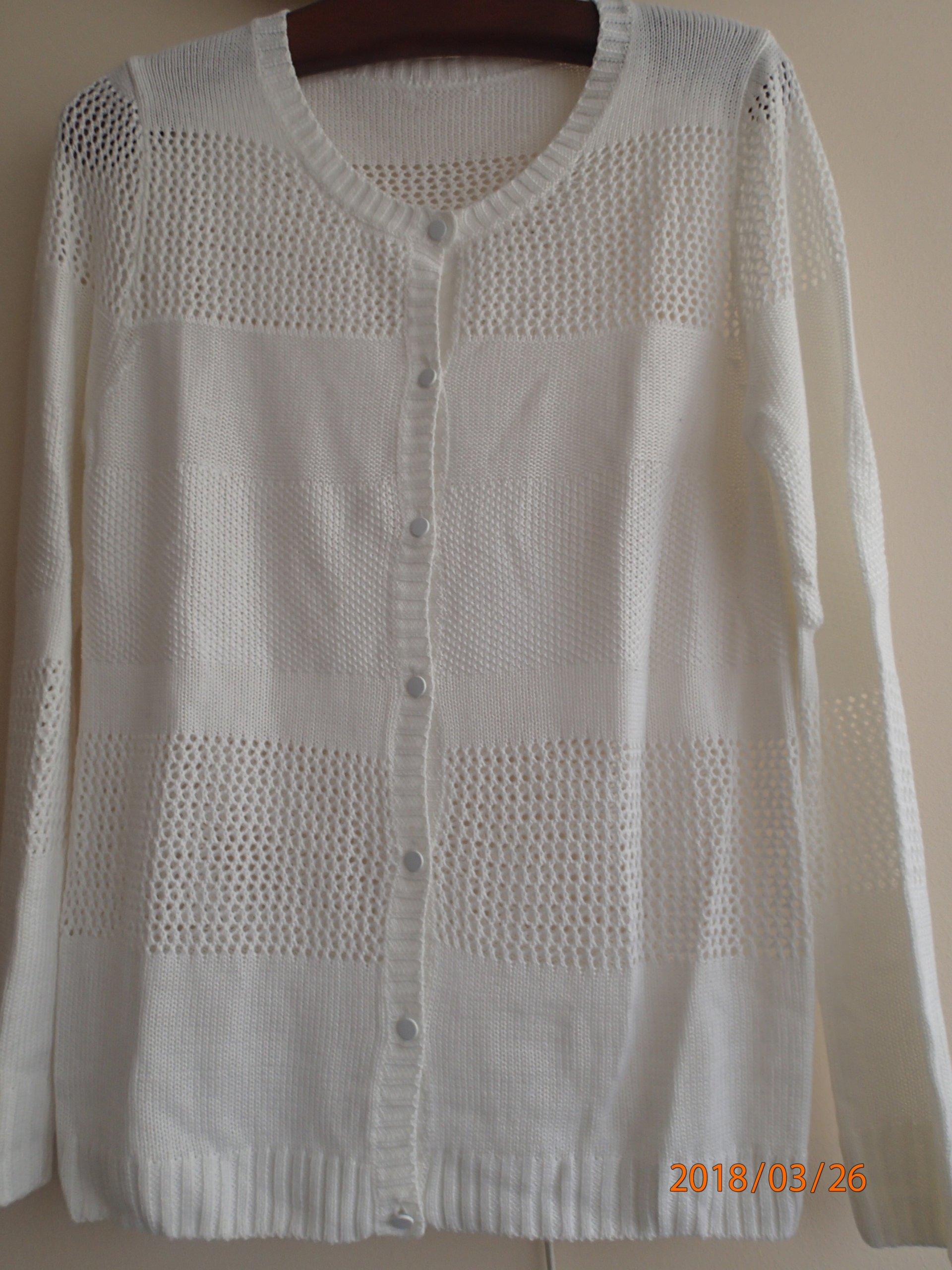 1e4cf2f5606419 Sweter kardigan ażurowy Zara biały - 7528350197 - oficjalne archiwum ...