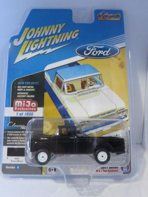 1//64 JOHNNY LIGHTNING 1959 RED FORD F-250 PICKUP TRUCK