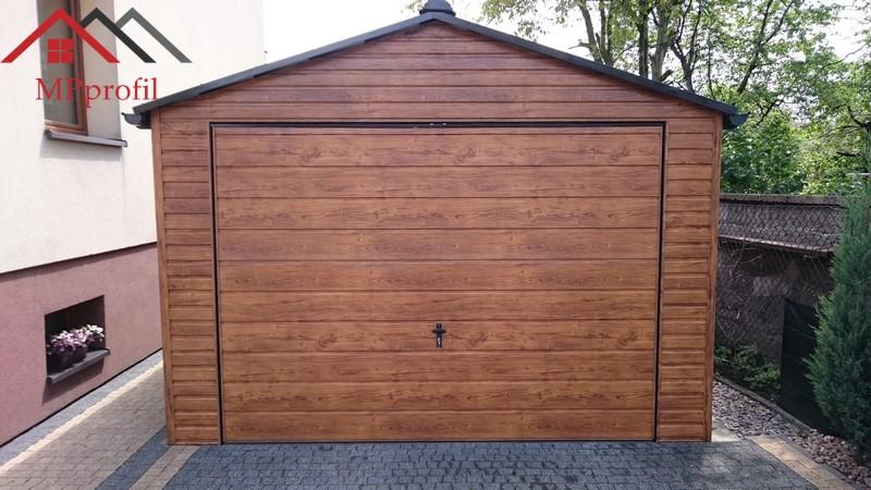 Garaż Blaszany 35x55 Całość Profil Drewnopodobny 7245838263