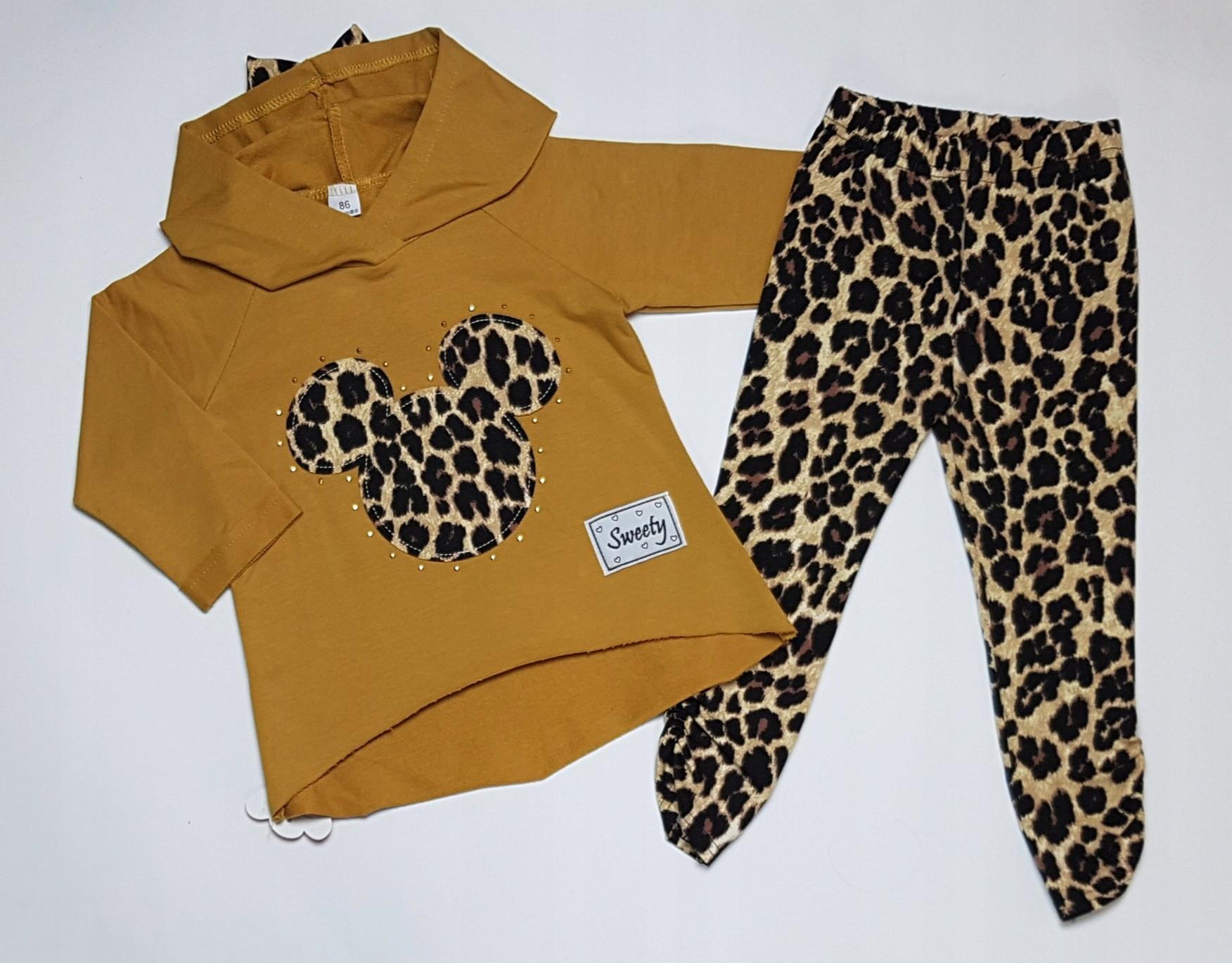 829a32fc6 Komplet dla dziewczynki PANTERKA bluza+legginsy 98 - 7673788341 ...