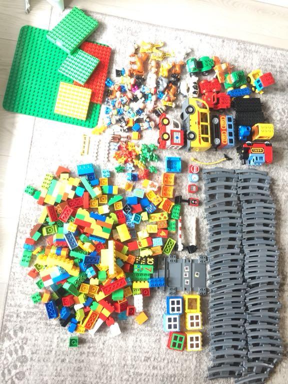 Mega Zestaw Klocków Lego Duplo Tory Ludziki 7433823090 Oficjalne