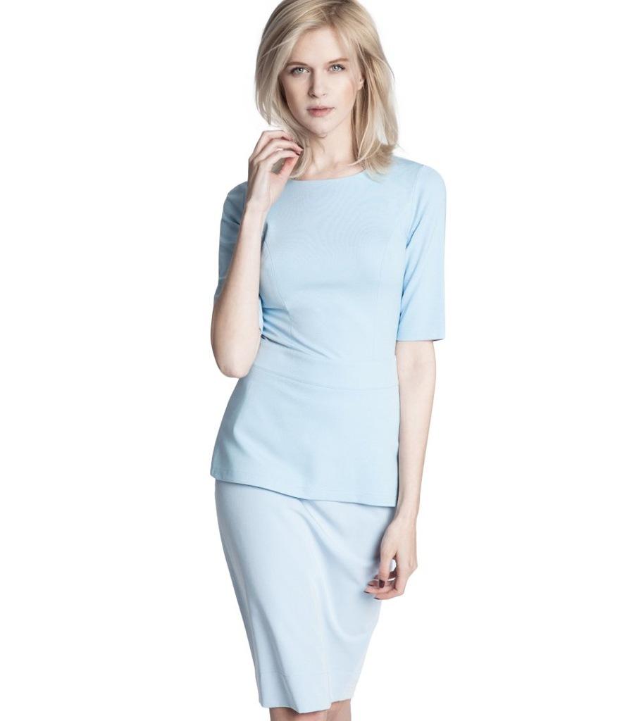Bluzka ECHO ADE 3-16229-116062-170150 niebieski XL