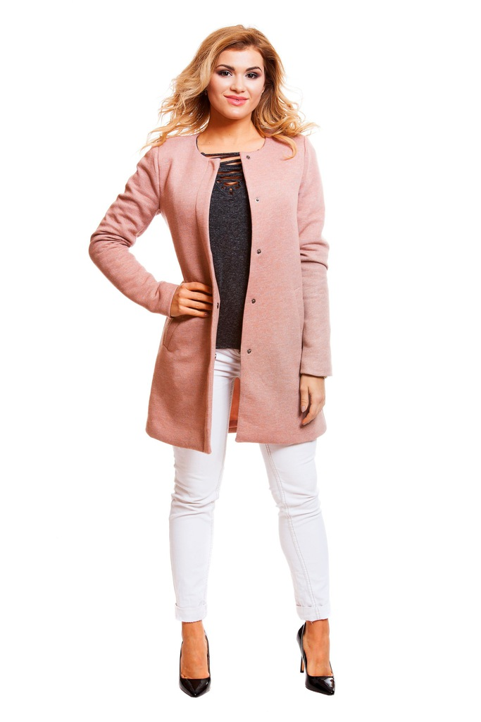 Płaszcz ONLY onlSIDNEY LIGHT MELANGE COAT CC OTW 15127882 brudny różowy M
