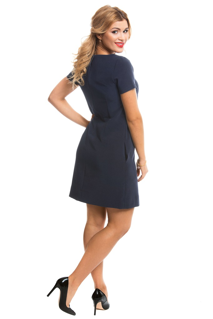 Sukienka ECHO AVIS 2-15309-116065-090230 granatowy M