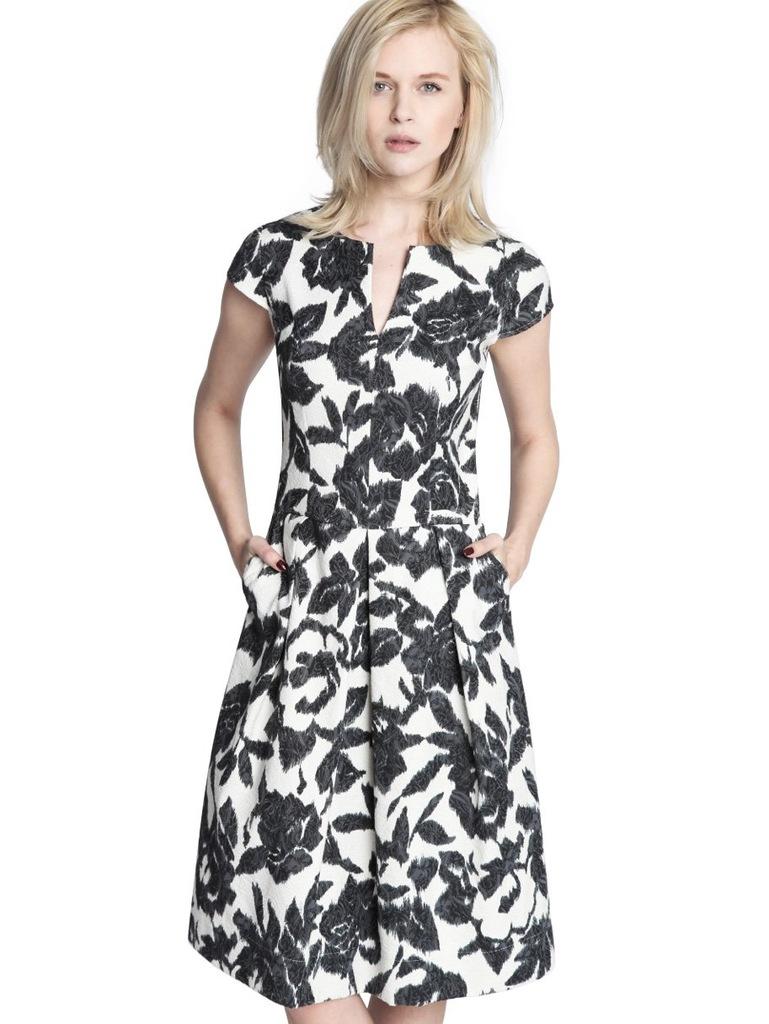 Sukienka ECHO MALWINA 2-16945-116158-090130 biały, czarny M