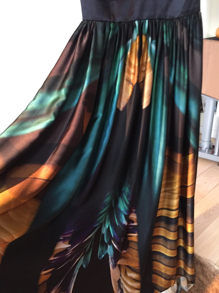 Suknia sukienka jedwab Emanuel Ungaro oryginał 36