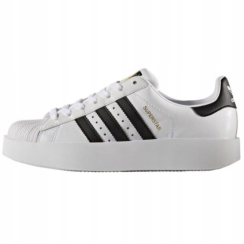 Białe Skórzane Buty Damskie Sportowe Adidas rozmiar 38