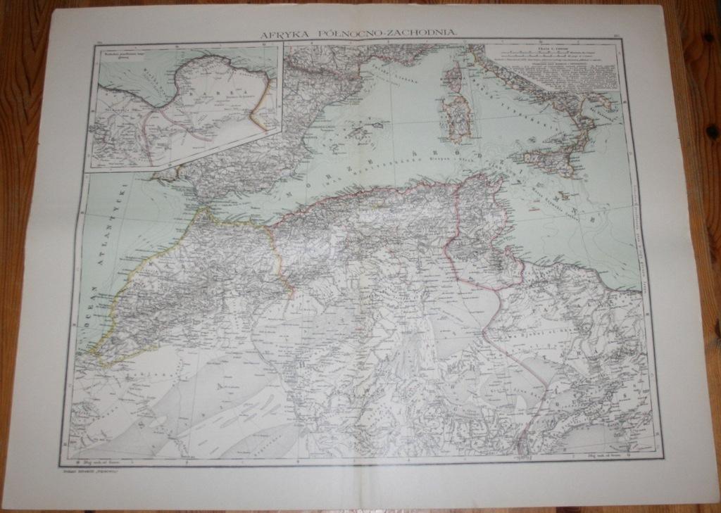 Mapa AFRYKA PÓŁNOCNO-ZACHODNIA 1904