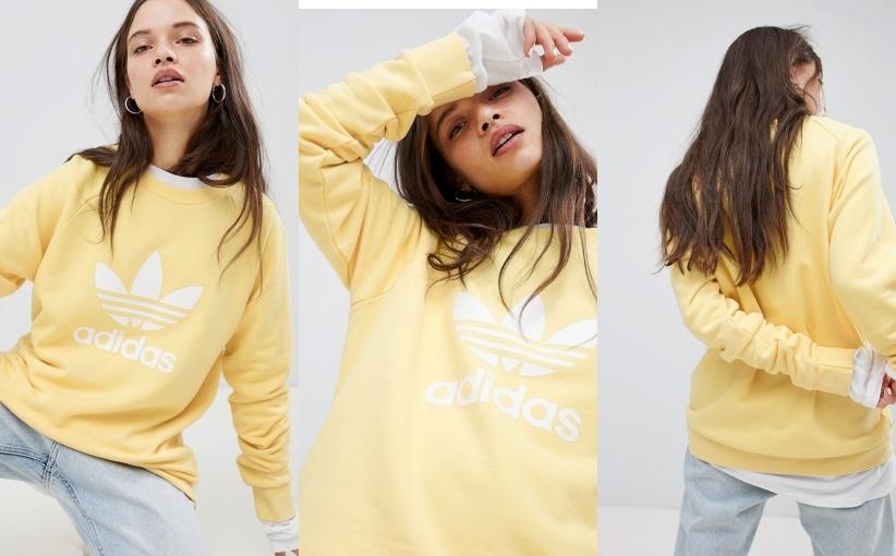 adidas bluza żółta