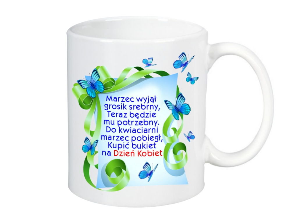 Kubek Dzień Kobiet Prezent Wesoły Wiersz 7155026733