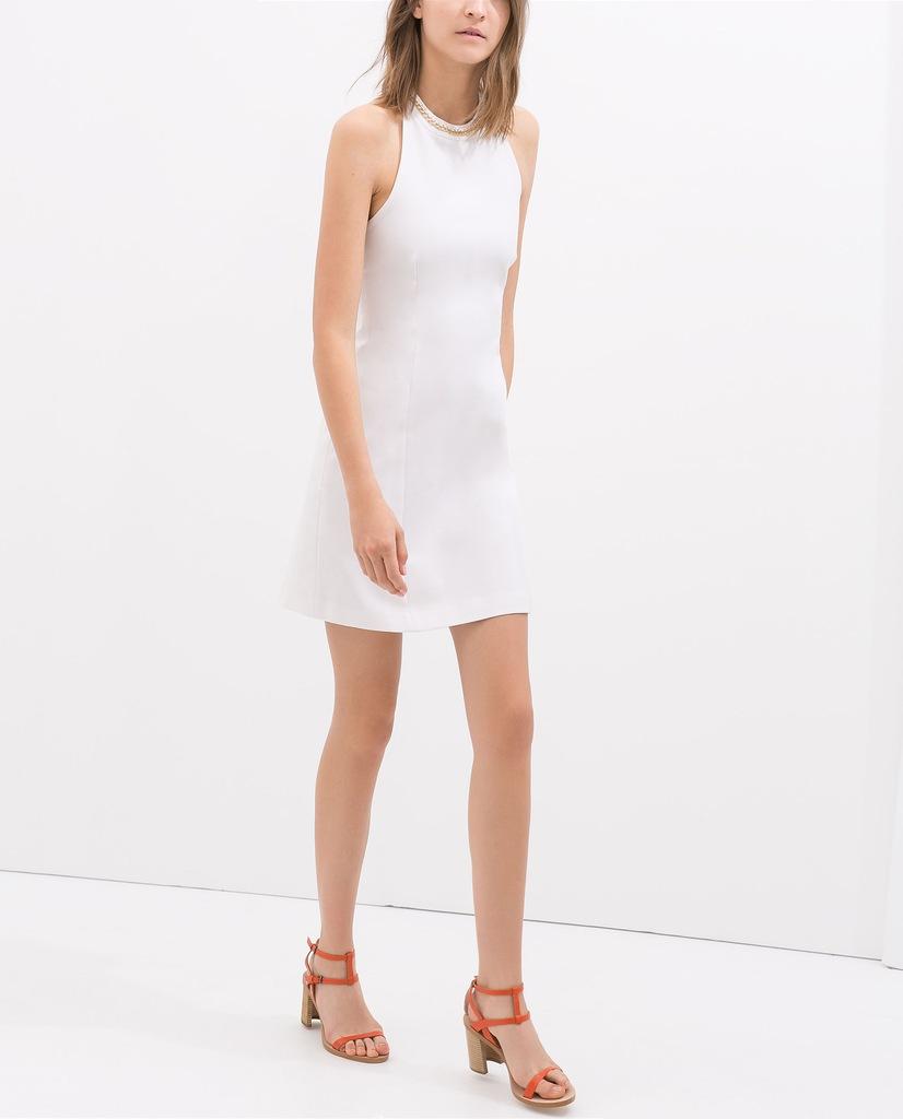 zara sukienka halter biała