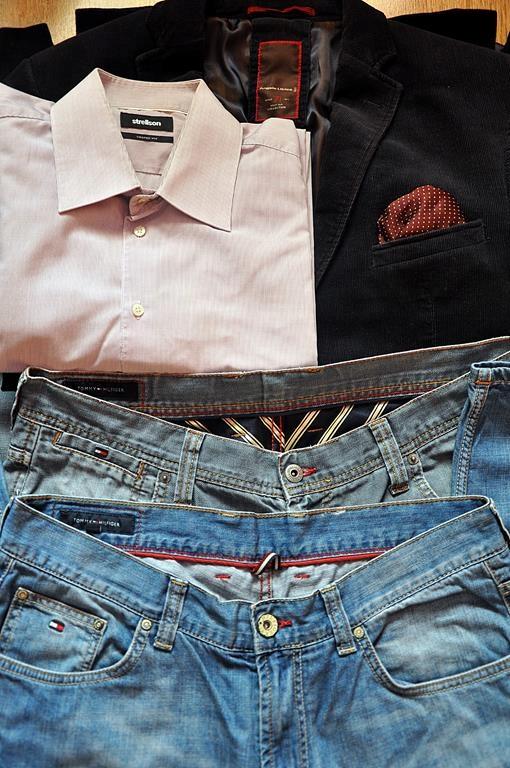 Tommy Hilfiger spodnie marynarka koszula zestaw