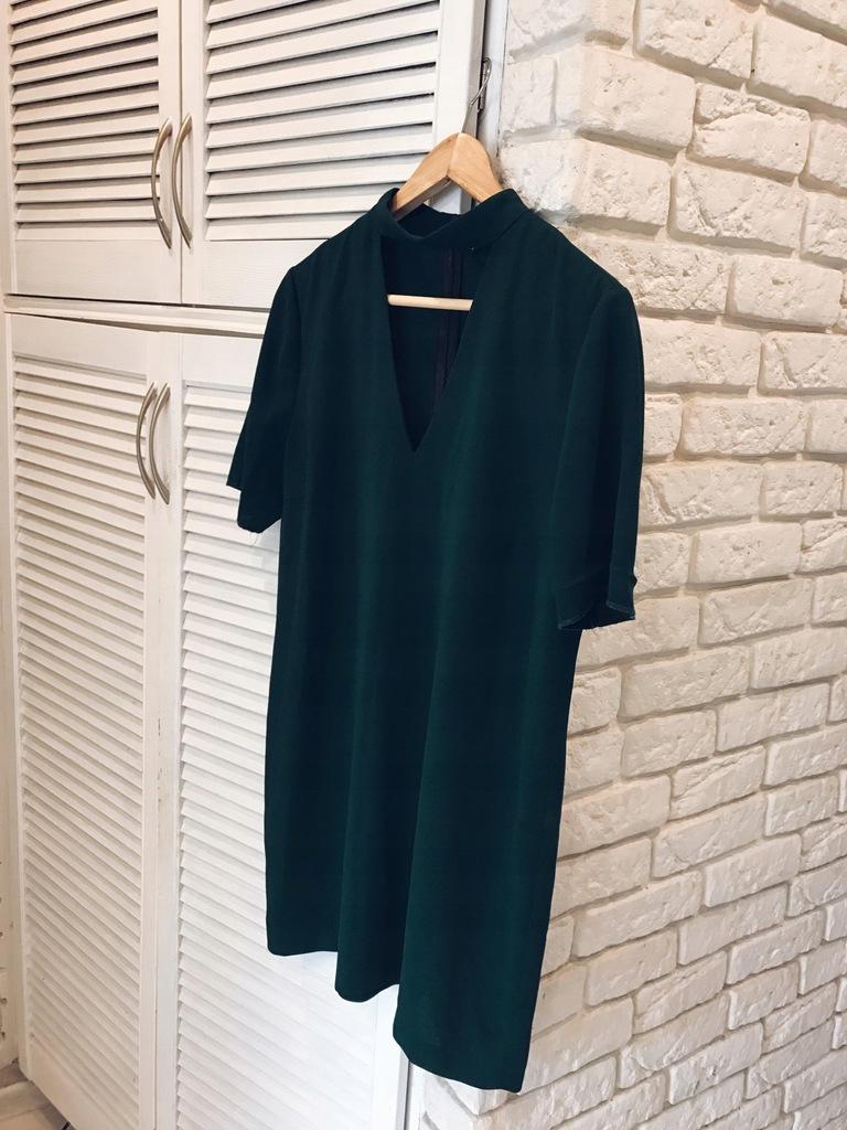 ZARA sukienka choker 38 M zieleń topshop asos