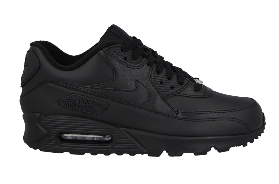 NIKE AIR MAX 90 ESSENTIAL 302519 001 LEATHER BLACK